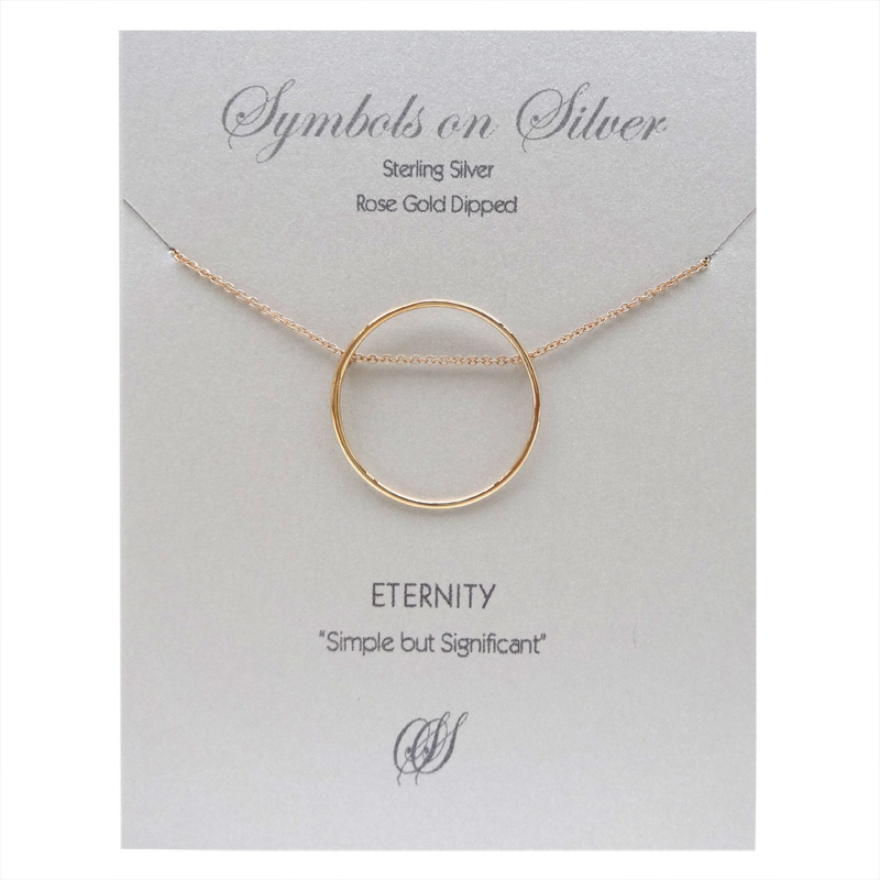 Symbols on Silver - Eternity (sterling silver rose gold dipped)