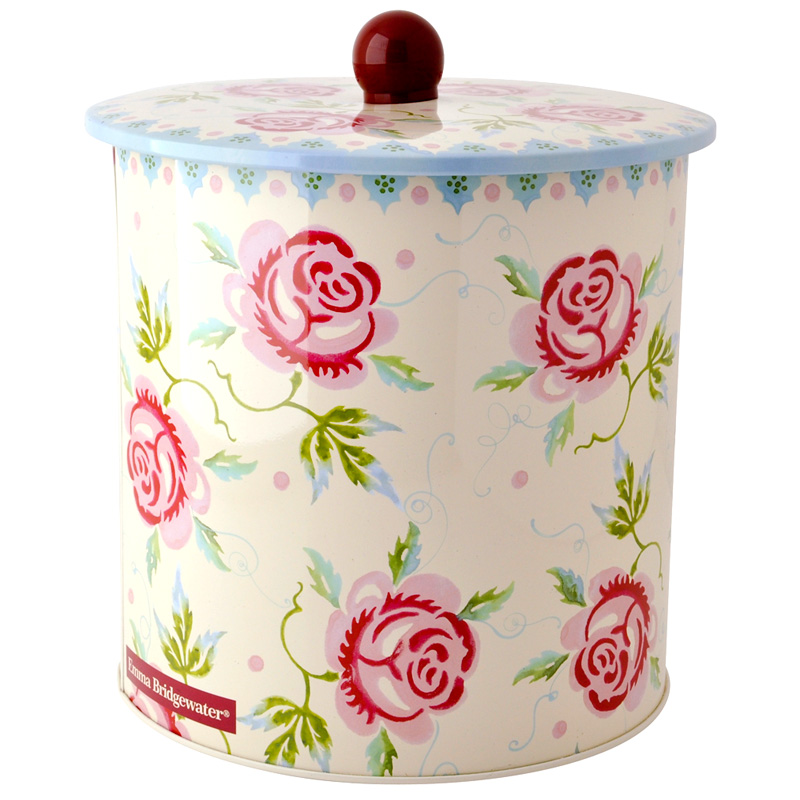 Rose and Bee Biscuit Barrel